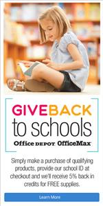 Give Back through Office Depot or Office Max