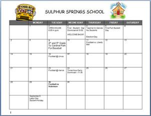 click here for school calendar